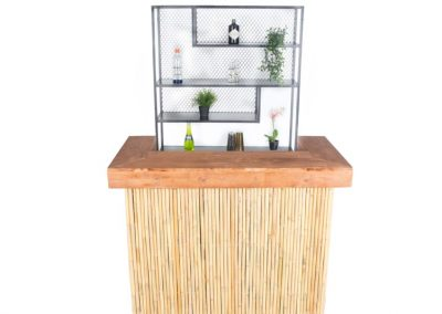 Bamboo bar + medium steel backbar