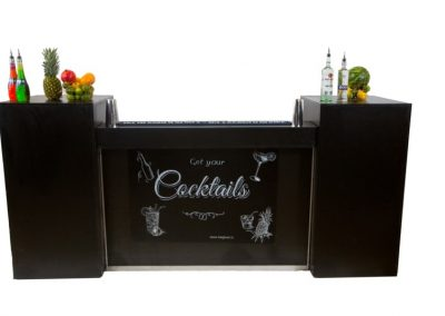 Black cocktail bar