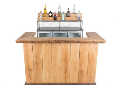 Medium vintage bar + backbar met koeling