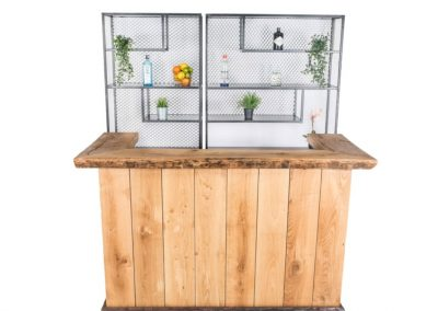 Medium vintage bar + double steel backbar