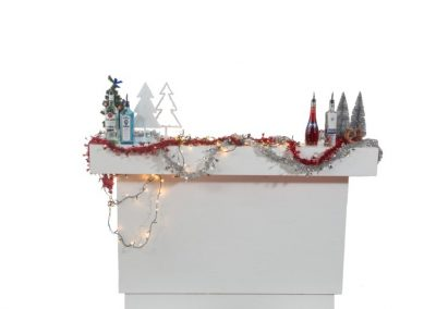 Medium white bar kerst