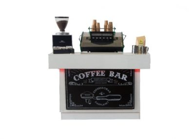 Medium white coffee bar