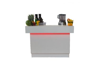 Small white smoothie bar