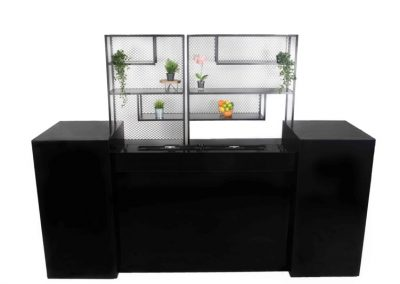 Zwarte bar + double steel backbar